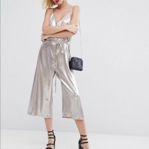 River Island silver jumpsuit